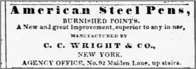 1842___CC_Wright_Steel_Pens