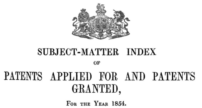 Research Resources: British Patents