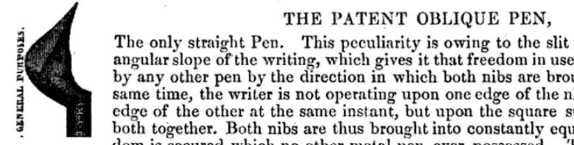 Origins of the Oblique Pen and ObliqueHolder