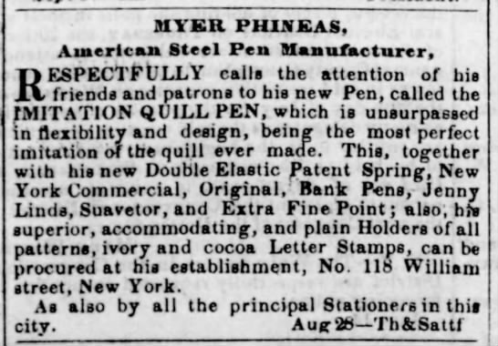 Research Resources for Steel Pens: Historic Newspapers