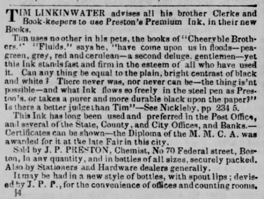 1840 Preston ink