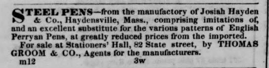 1841 Hayden imitations of perry
