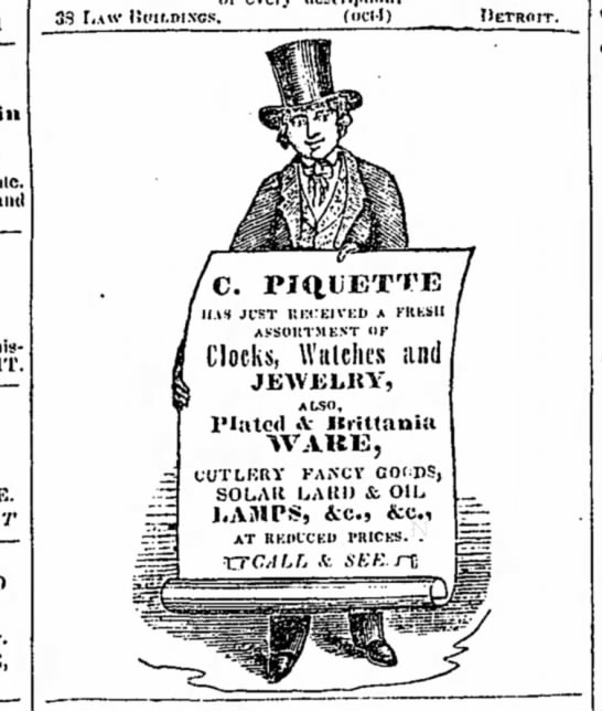 1845 Piquette early ad