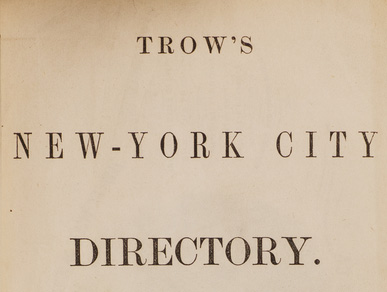Research Resources: New York City