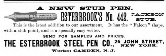 1889 Jackson stub ad