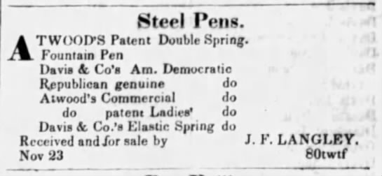 1838 Atwoods double spring
